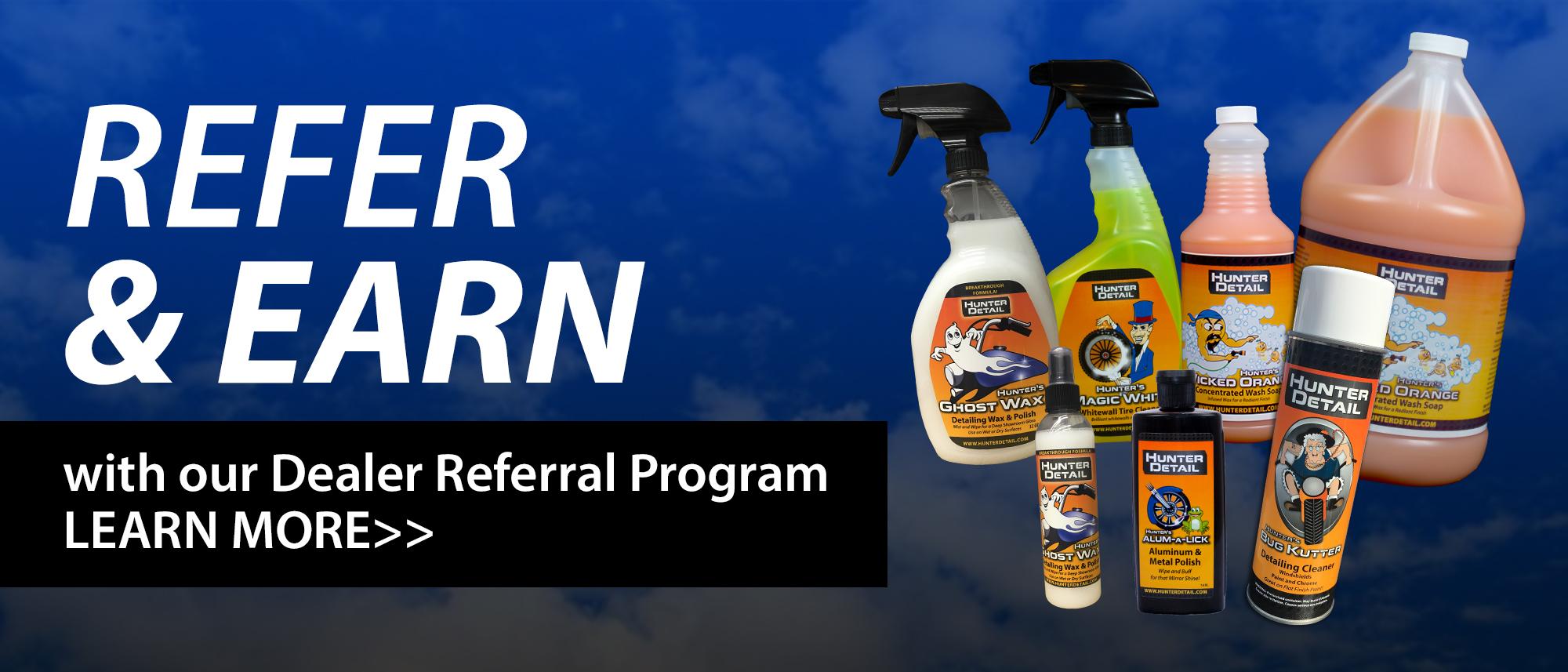 Hunter Detail Dealer Referral Program